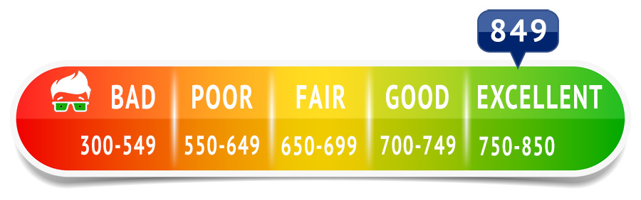 What number is considered an excellent credit score?