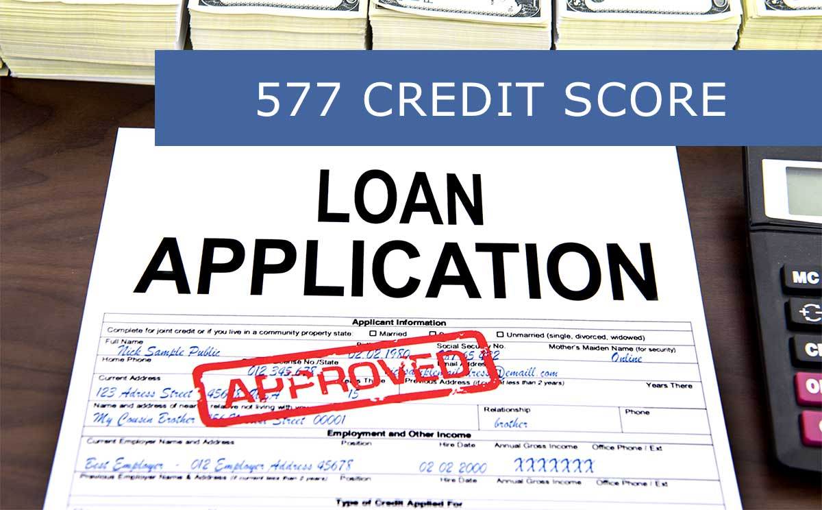 Loan Application with 577 FICO Score